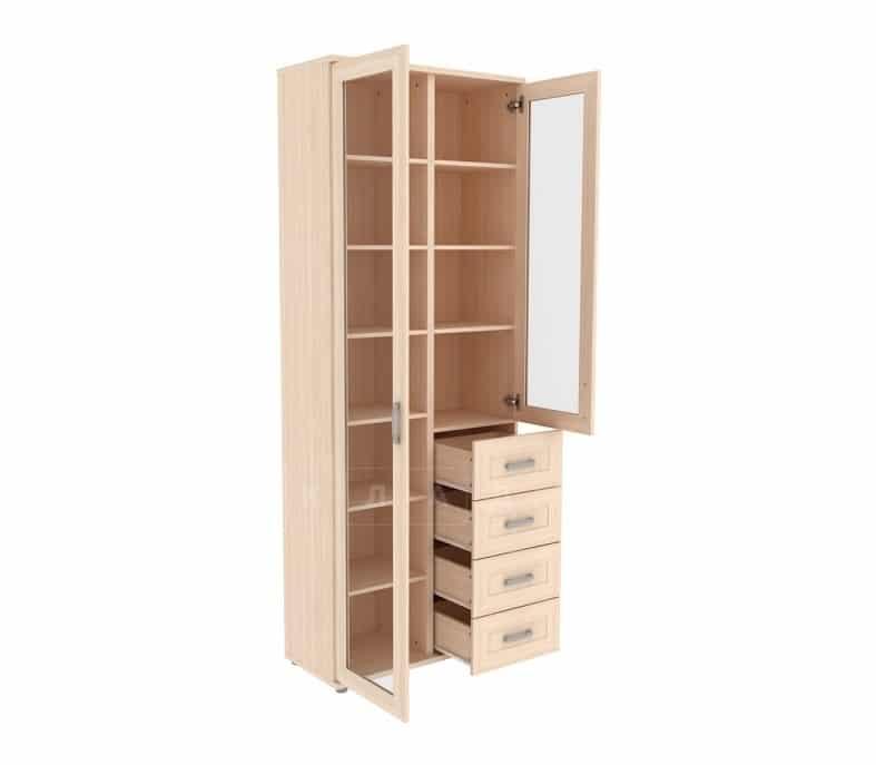 Книжный шкаф 502-11 молочный дуб фото 2 | интернет-магазин Складно