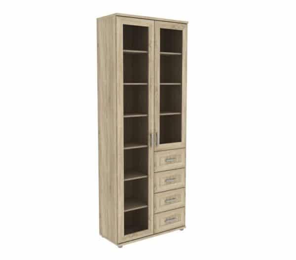 Книжный шкаф 502-11 дуб сонома фото | интернет-магазин Складно