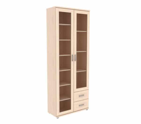Книжный шкаф 502-13 молочный дуб фото | интернет-магазин Складно