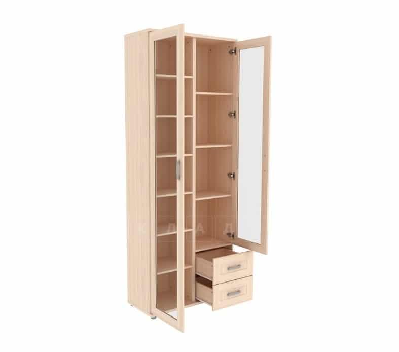 Книжный шкаф 502-13 молочный дуб фото 2 | интернет-магазин Складно