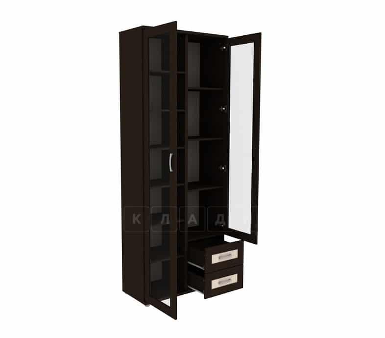 Книжный шкаф 502-13 венге с молочным дубом фото 2 | интернет-магазин Складно