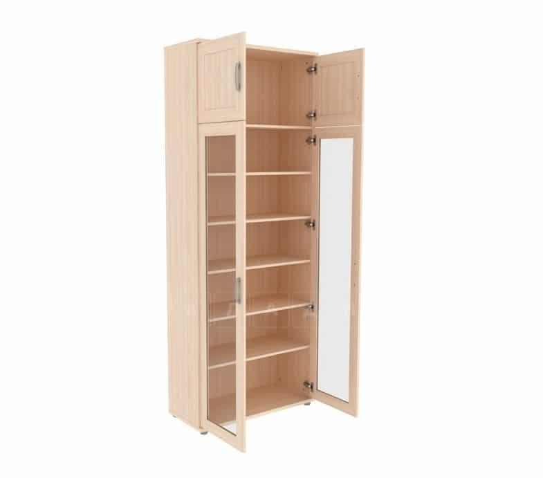 Книжный шкаф 502-07 молочный дуб фото 2 | интернет-магазин Складно