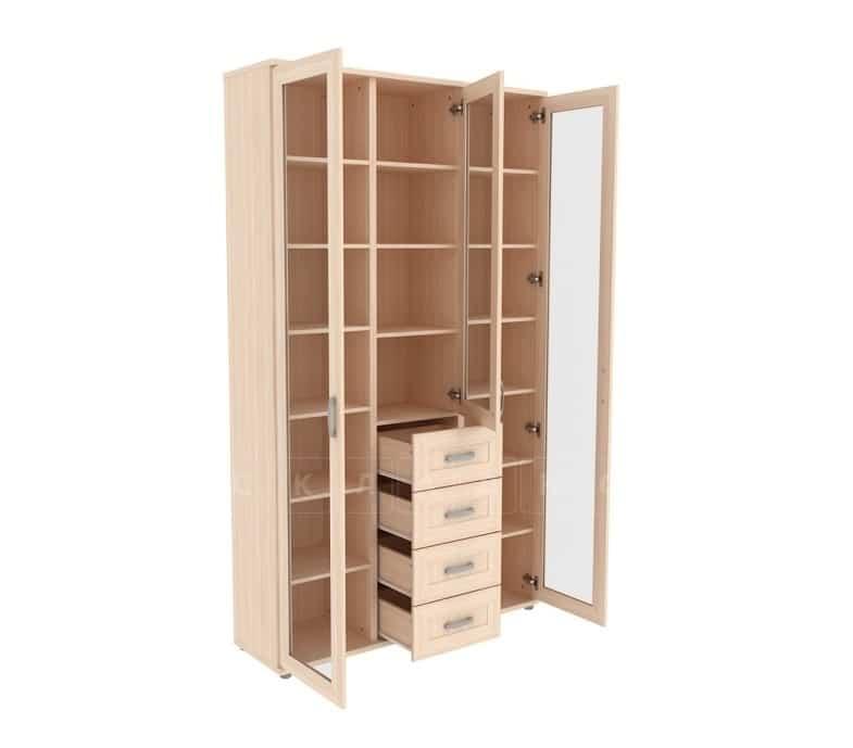 Книжный шкаф 503-04 молочный дуб фото 2 | интернет-магазин Складно