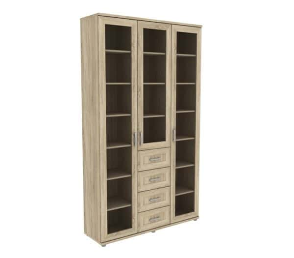 Книжный шкаф 503-04 дуб сонома фото | интернет-магазин Складно