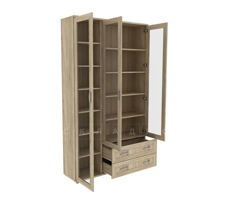 Книжный шкаф 503-06 дуб сонома фото 2 | интернет-магазин Складно