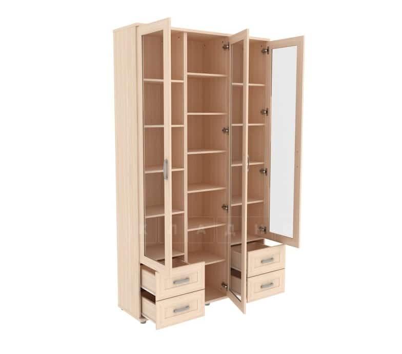 Книжный шкаф 503-08 молочный дуб фото 2 | интернет-магазин Складно