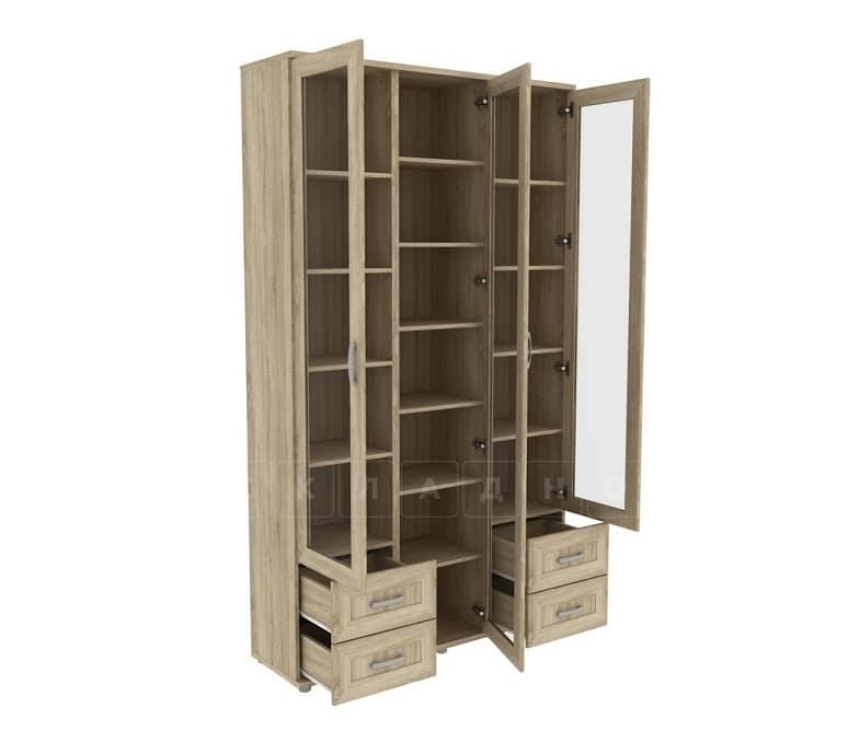 Книжный шкаф 503-08 дуб сонома фото 2 | интернет-магазин Складно