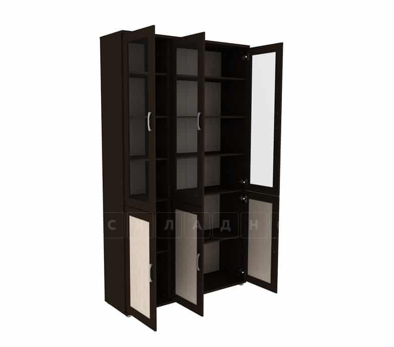 Книжный шкаф 503-10 венге с молочным дубом фото 2 | интернет-магазин Складно