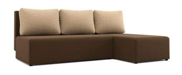 Угловой диван Комо темно-коричневый фото | интернет-магазин Складно