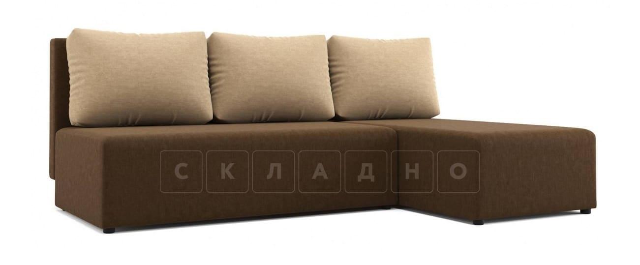 Угловой диван Комо темно-коричневый фото 1 | интернет-магазин Складно