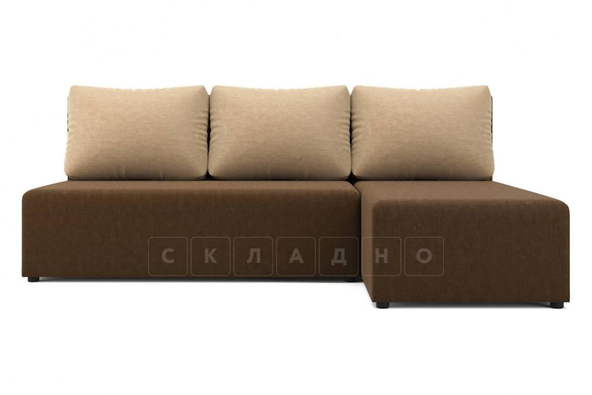 Угловой диван Комо темно-коричневый фото 2 | интернет-магазин Складно