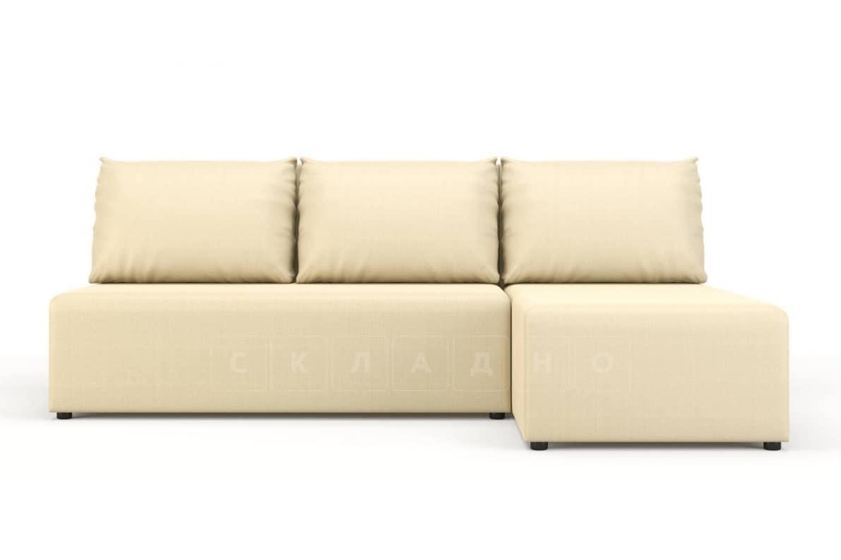 Угловой диван Комо молочный фото 2 | интернет-магазин Складно