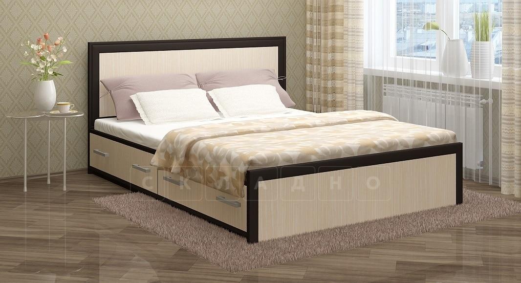 Кровать с ящиками Модерн 160 см широкий штапик фото 1   интернет-магазин Складно