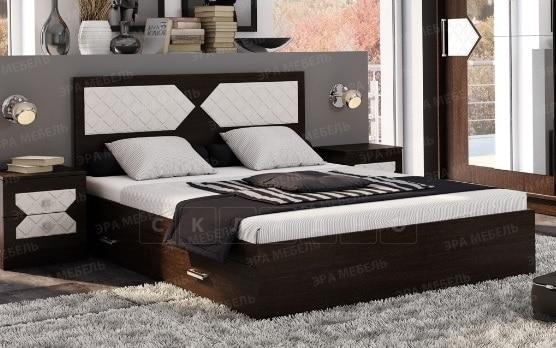 Кровать с ящиками Николь 140 см фото 2 | интернет-магазин Складно