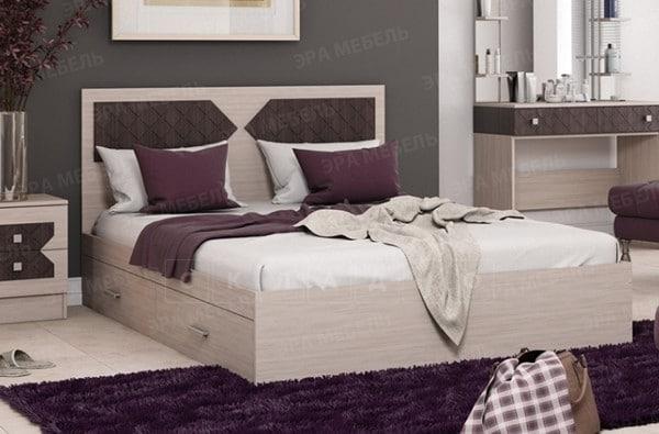 Кровать с ящиками Николь 140 см фото 1 | интернет-магазин Складно