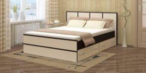Кровать с ящиками Сакура 140 см фото | интернет-магазин Складно