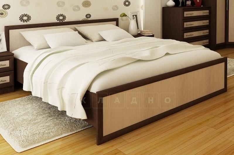Кровать Зиля ЗК-1,6 широкий штапик фото 1 | интернет-магазин Складно