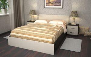 Кровать Зиля ЗК-1,4 ЛДСП фото | интернет-магазин Складно