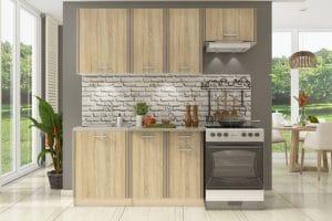 Кухонный гарнитур Бланка 2,0м дуб сонома фото | интернет-магазин Складно