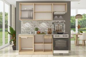 Кухонный гарнитур Бланка 2,0 м дуб сонома фото | интернет-магазин Складно