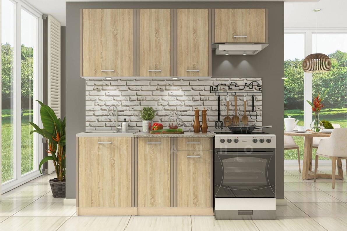 Кухонный гарнитур Бланка 2,0м дуб сонома фото 1 | интернет-магазин Складно