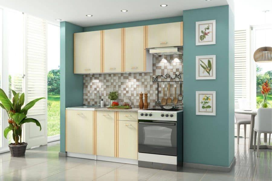 Кухонный гарнитур Бланка 2,0 м цвета дуб кремона фото | интернет-магазин Складно
