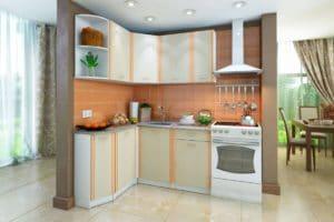 Кухня угловая Бланка 1,4х1,4 м дуб кремона левая  20320  рублей, фото 1 | интернет-магазин Складно