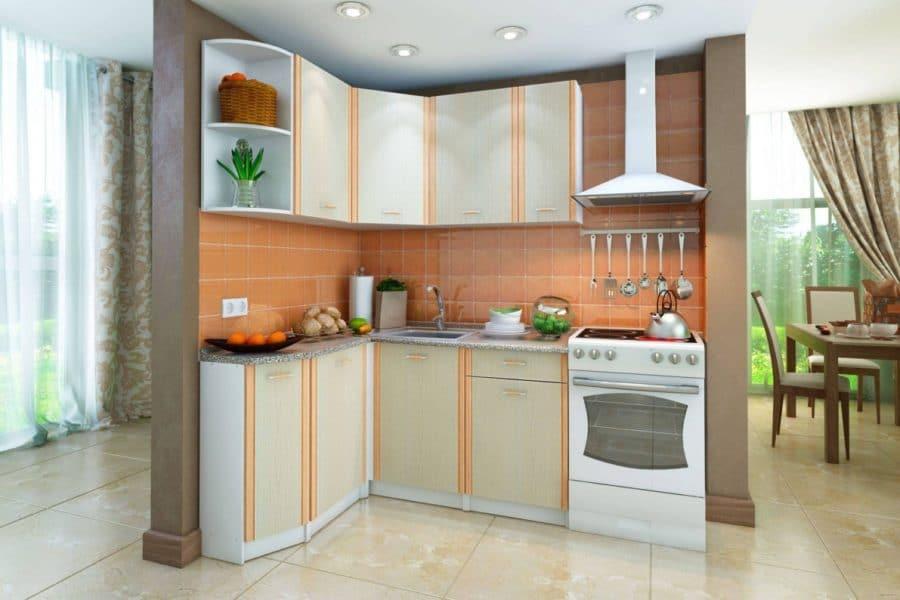 Кухня угловая Бланка 1,4х1,4м дуб кремона левая фото | интернет-магазин Складно