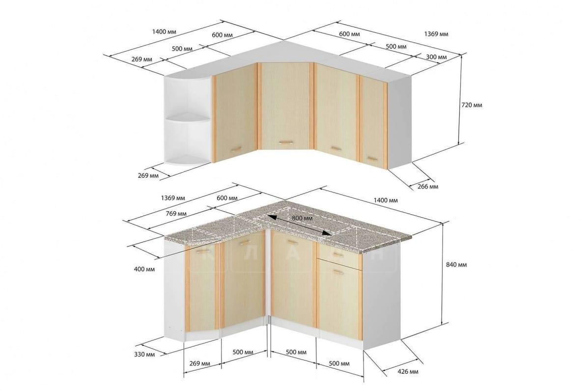 Кухня угловая Бланка 1,4х1,4 м дуб кремона левая фото 2 | интернет-магазин Складно