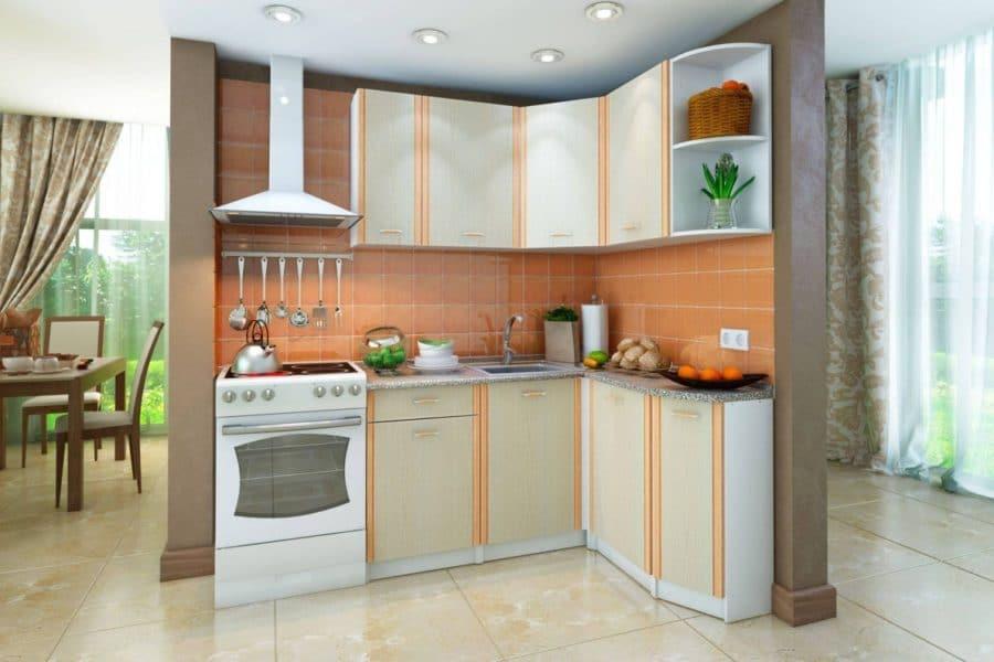 Кухня угловая Бланка 1,4х1,4 м дуб кремона правая фото | интернет-магазин Складно