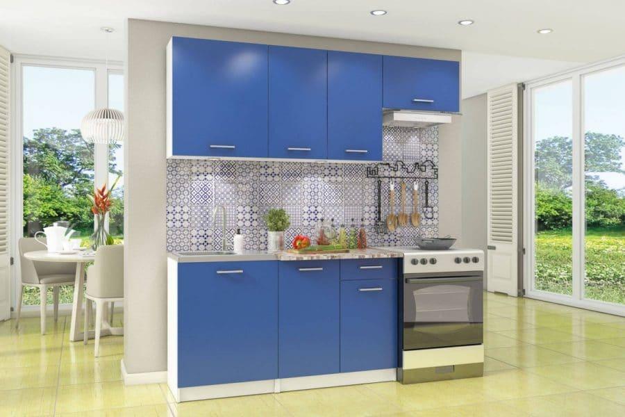 Кухонный гарнитур Бланка 2,0м королевский синий фото | интернет-магазин Складно