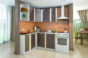 Кухня угловая Бланка 1,4х1,4м венге левая фото | интернет-магазин Складно
