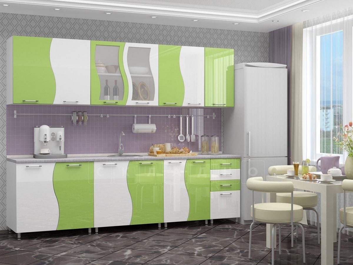 Кухонный гарнитур Волна 2,6 м фото 1 | интернет-магазин Складно