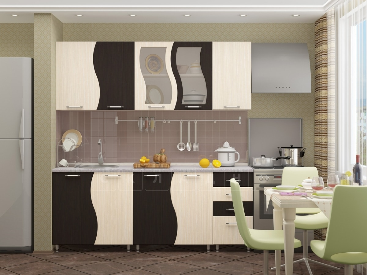 Кухонный гарнитур Волна 2,0 м фото 1 | интернет-магазин Складно