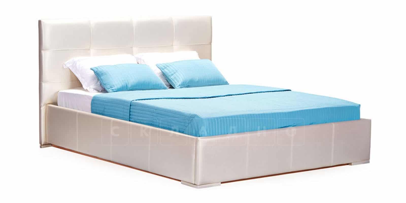 Мягкая кровать Лайф 160см перламутр с подъемным механизмом фото 2 | интернет-магазин Складно