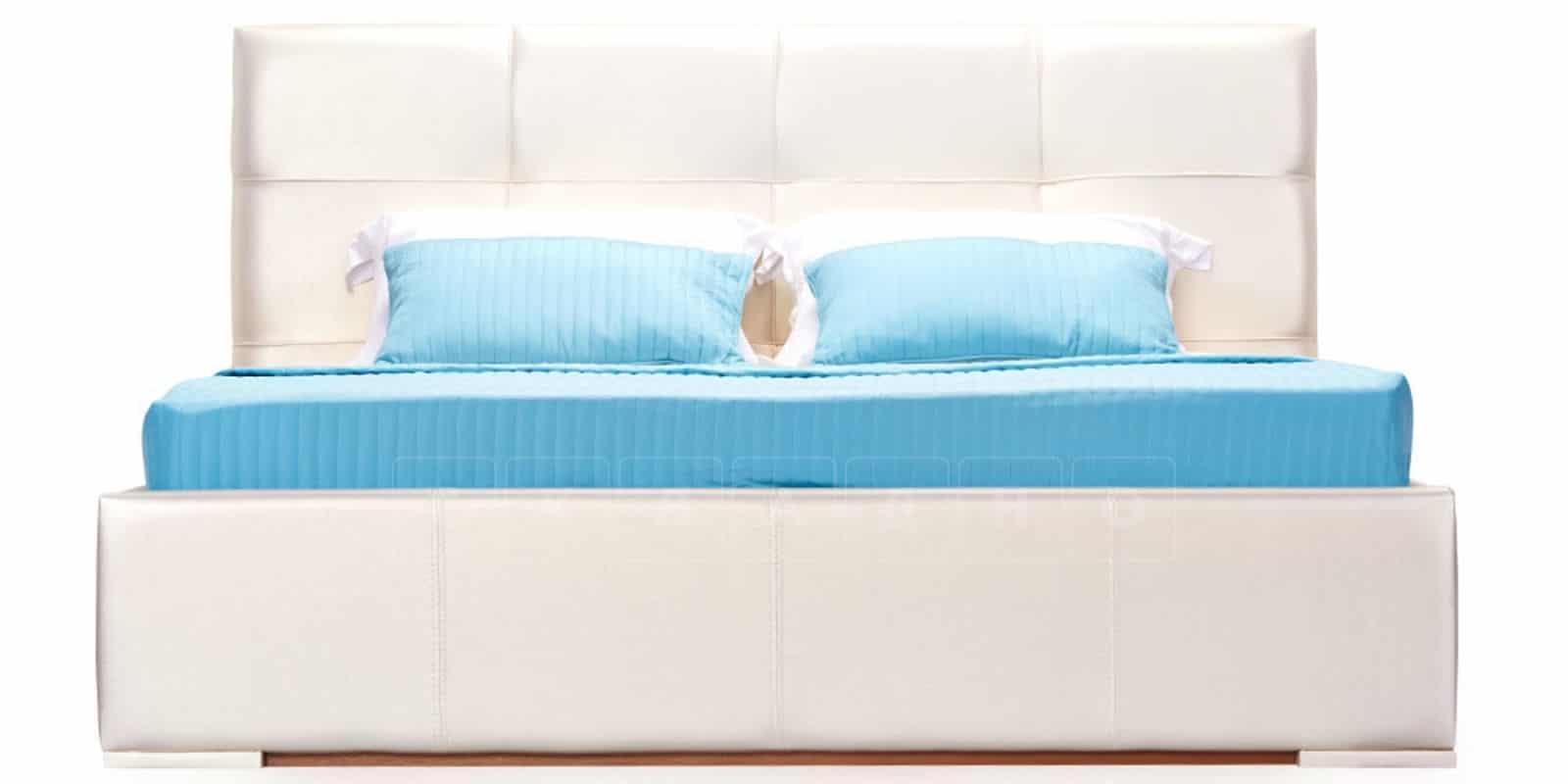 Мягкая кровать Лайф 160см перламутр с подъемным механизмом фото 3 | интернет-магазин Складно