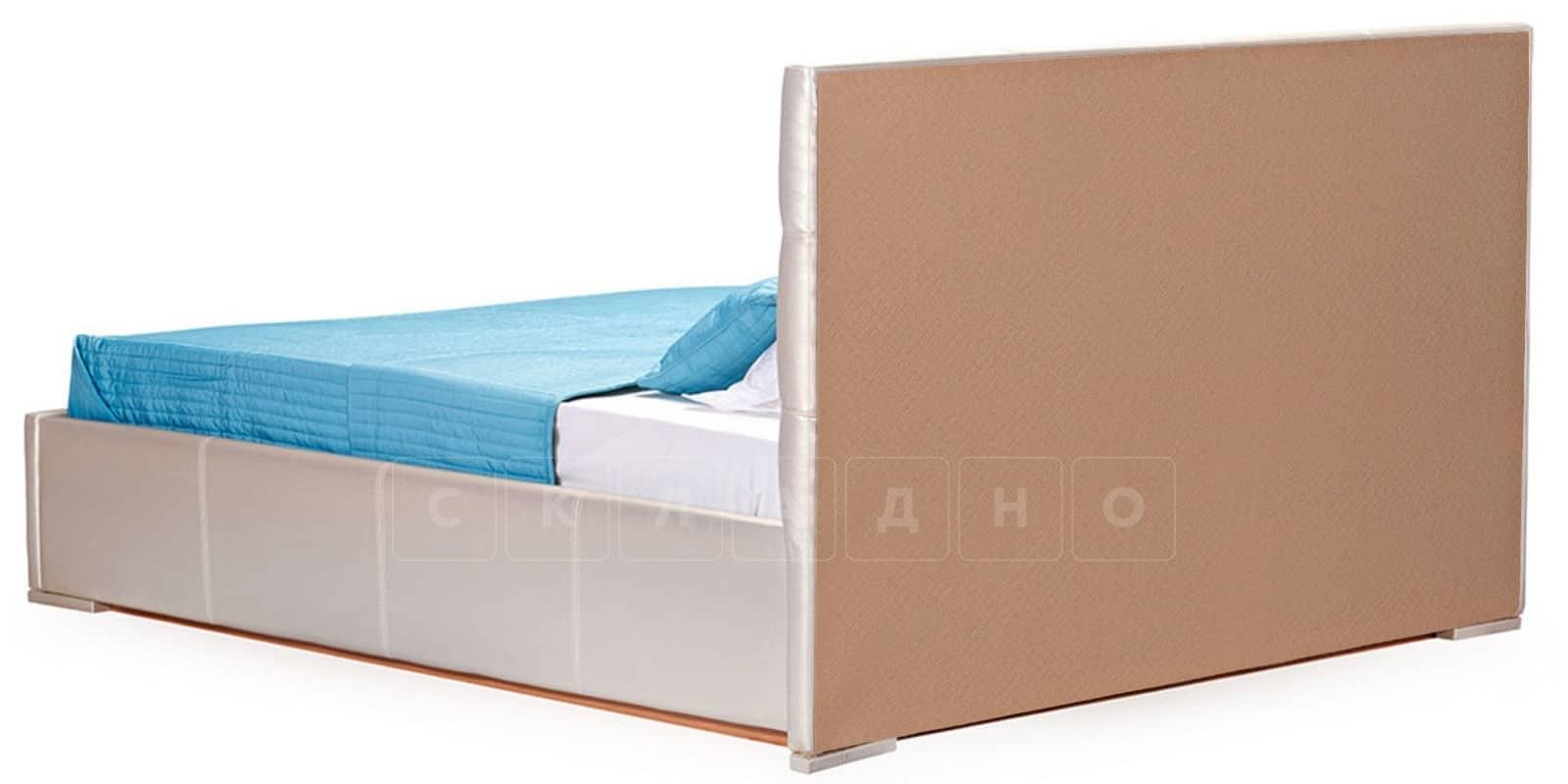 Мягкая кровать Лайф 160см перламутр с подъемным механизмом фото 4 | интернет-магазин Складно