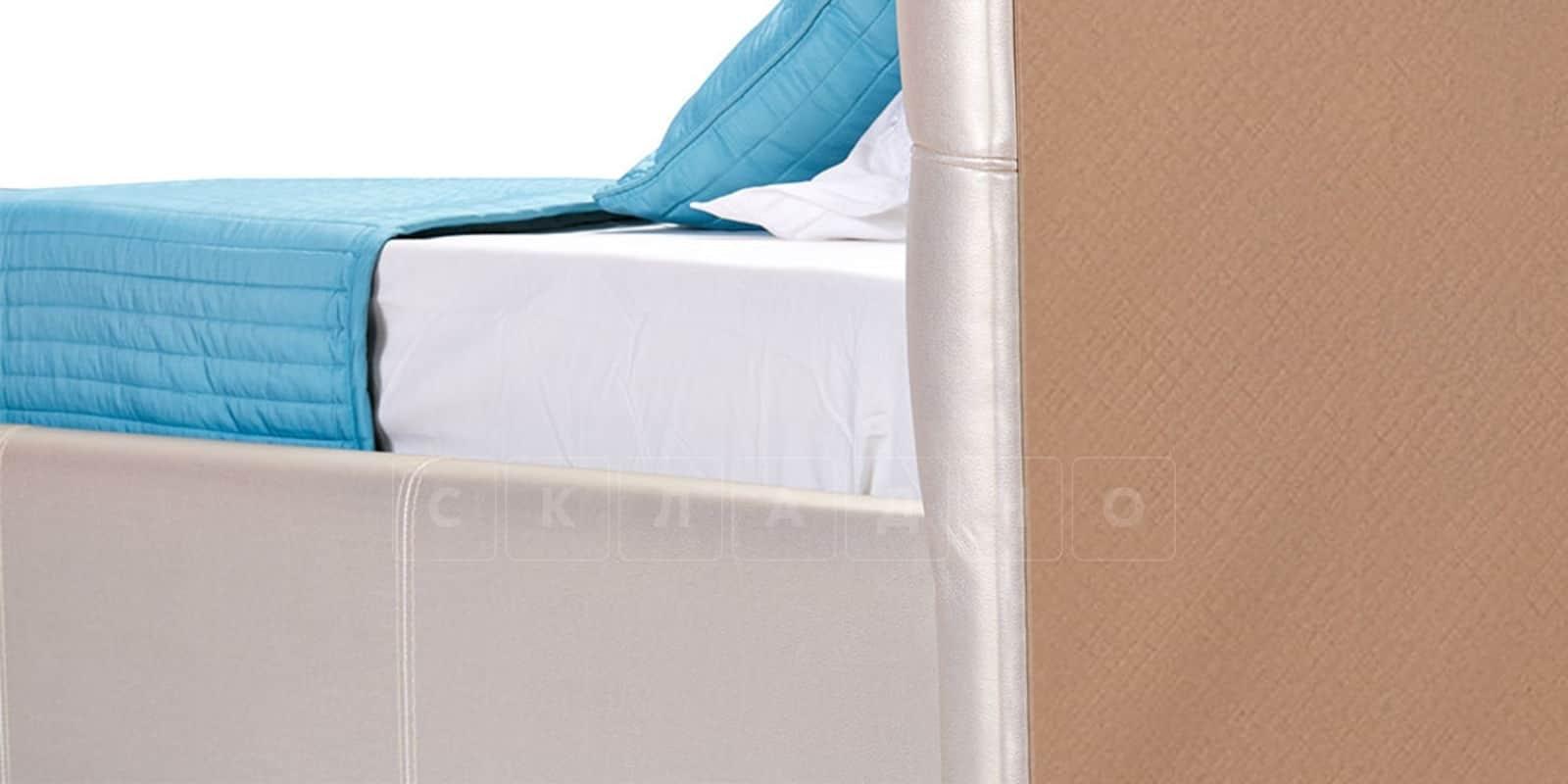 Мягкая кровать Лайф 160см перламутр с подъемным механизмом фото 5 | интернет-магазин Складно