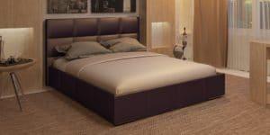 Мягкая кровать Лайф 160см шоколад с подъемным механизмом фото превью | интернет-магазин Складно