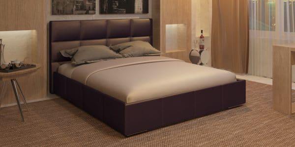 Мягкая кровать Лайф 160см шоколад с подъемным механизмом фото | интернет-магазин Складно