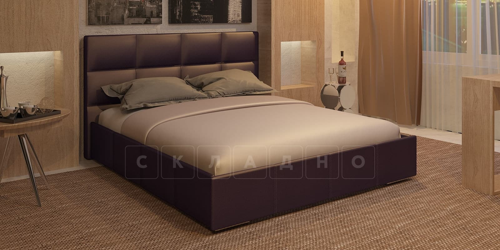 Мягкая кровать Лайф 160см шоколад без подъемного механизма фото 1 | интернет-магазин Складно