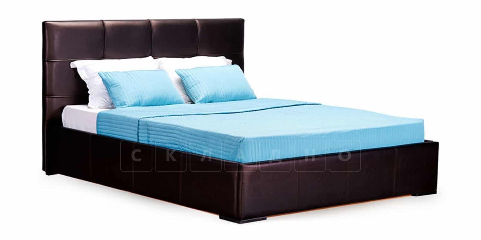 Мягкая кровать Лайф 160см шоколад без подъемного механизма фото 2 | интернет-магазин Складно