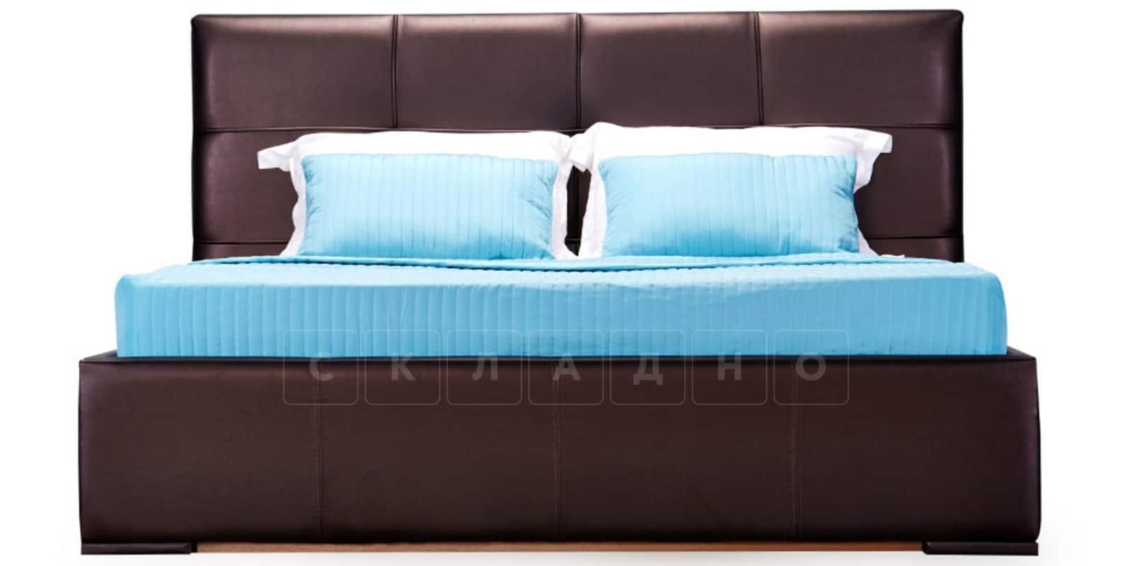 Мягкая кровать Лайф 160см шоколад без подъемного механизма фото 3 | интернет-магазин Складно