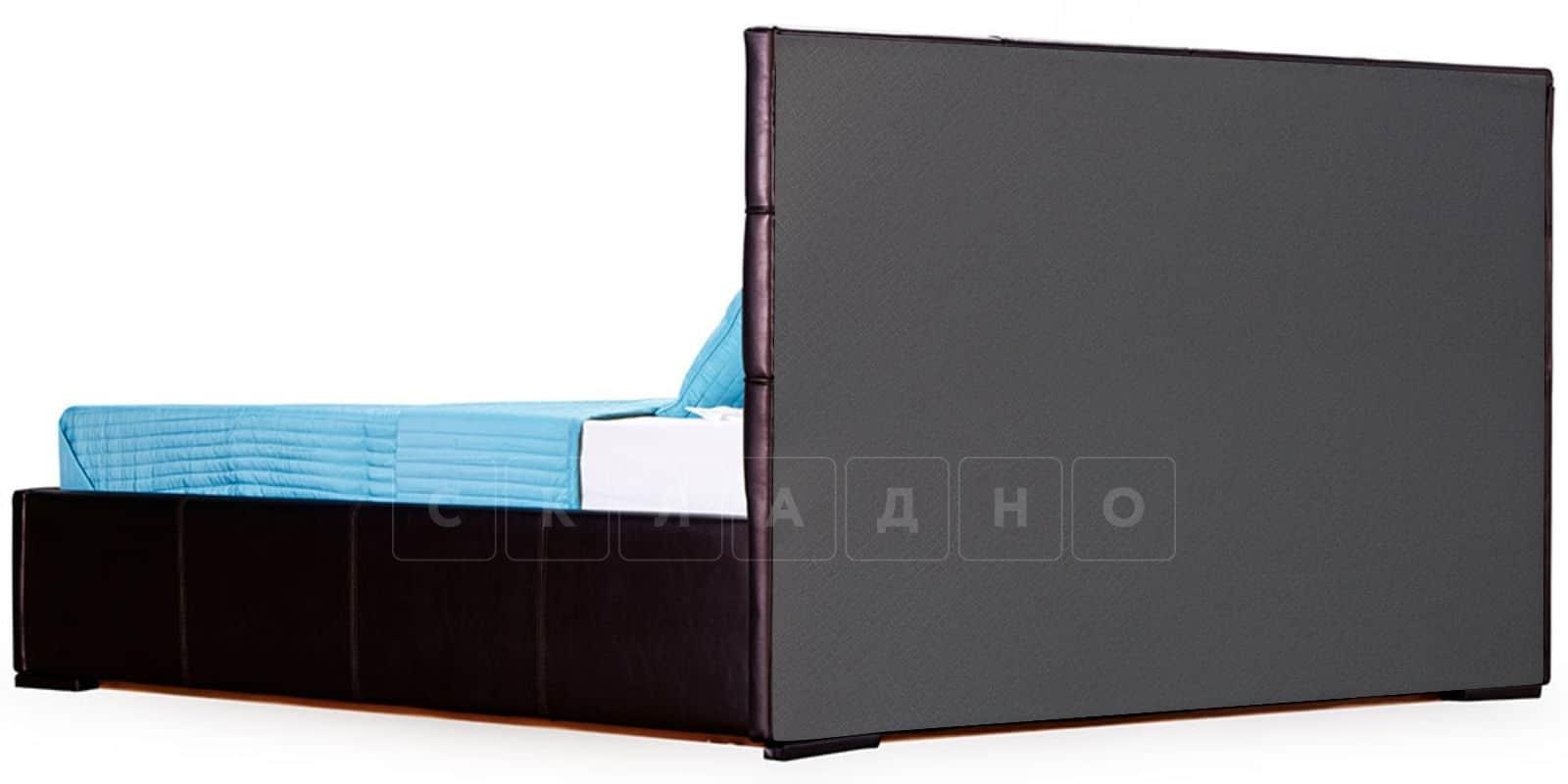 Мягкая кровать Лайф 160см шоколад без подъемного механизма фото 4 | интернет-магазин Складно
