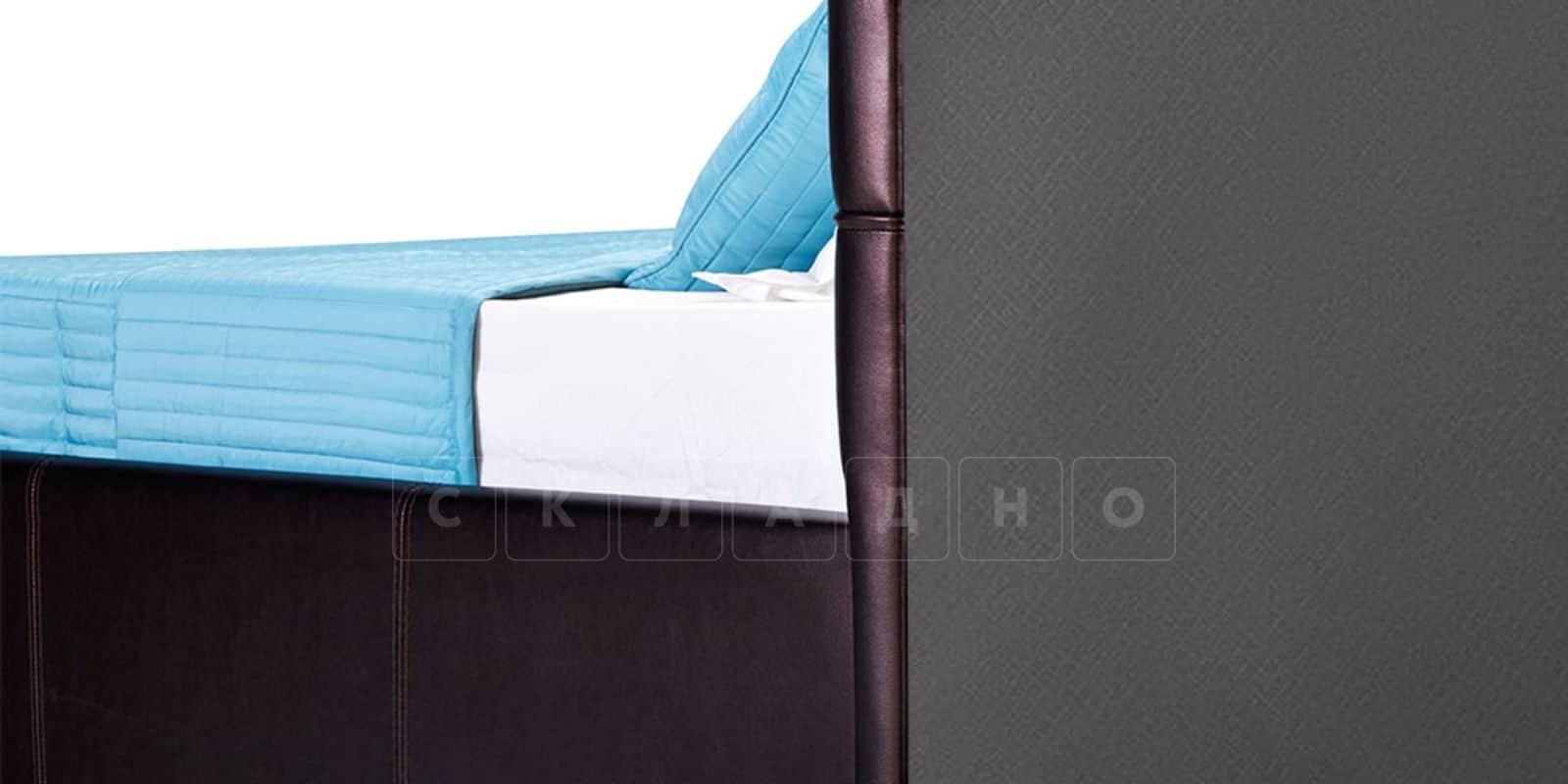 Мягкая кровать Лайф 160см шоколад без подъемного механизма фото 5 | интернет-магазин Складно