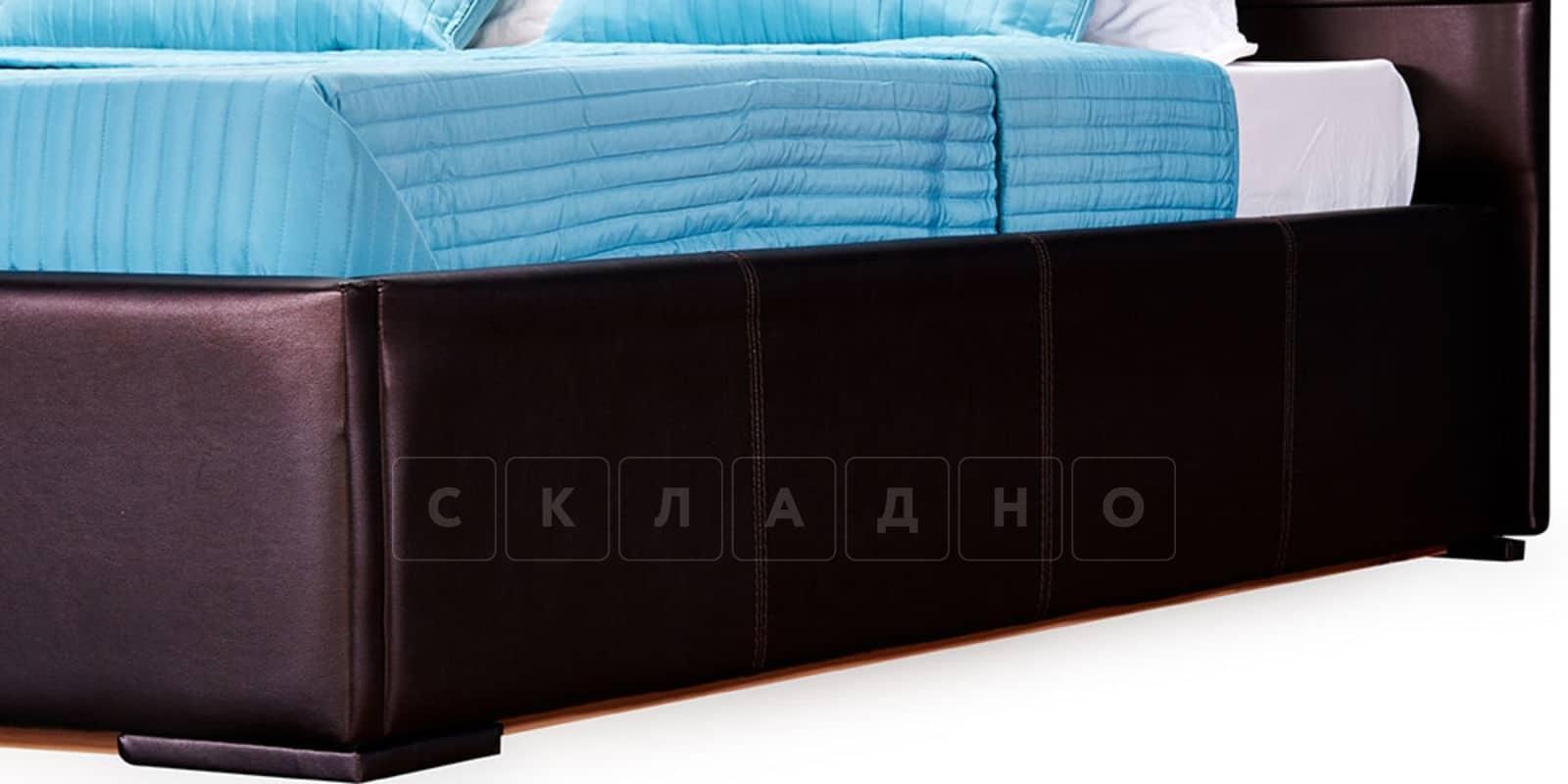 Мягкая кровать Лайф 160см шоколад без подъемного механизма фото 6 | интернет-магазин Складно
