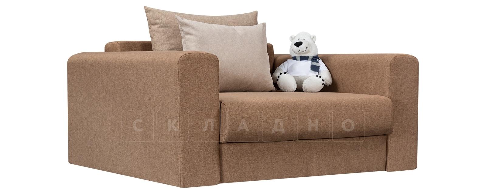 Кресло Медисон 100см коричневого цвета фото 1 | интернет-магазин Складно