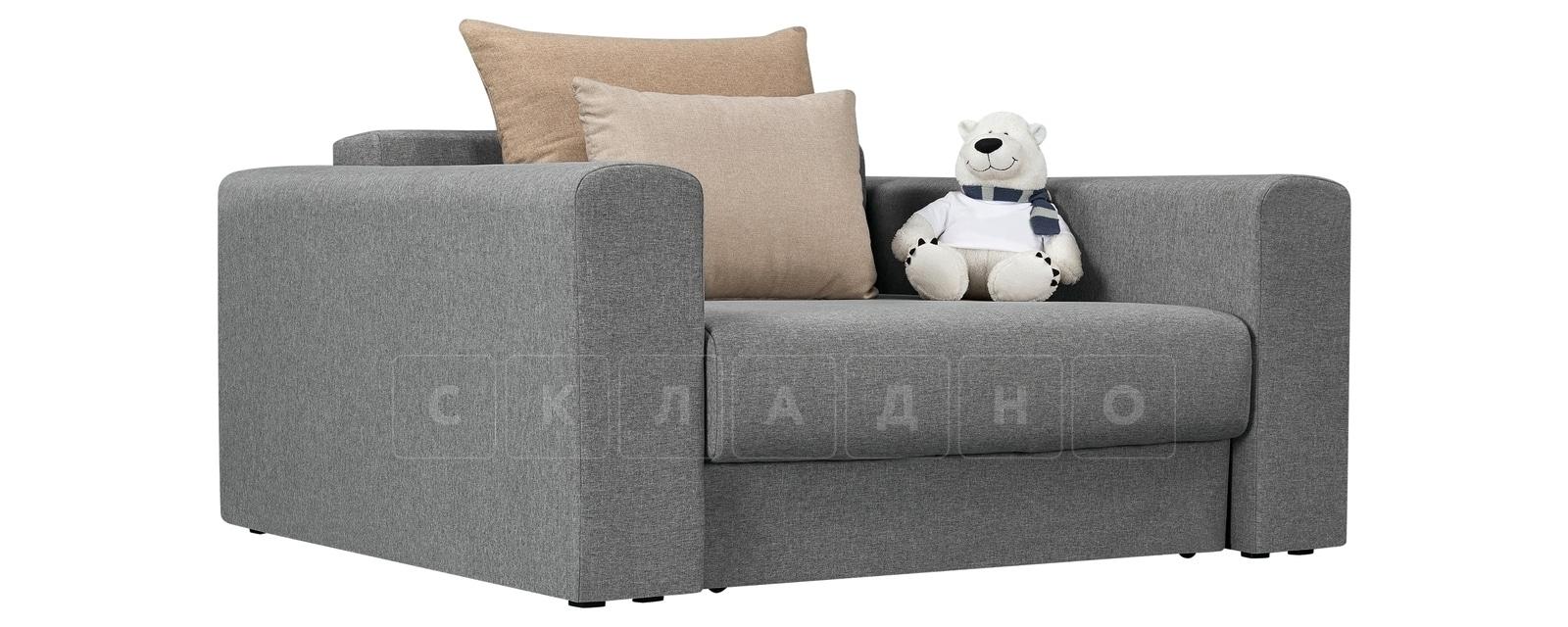 Кресло Медисон 100 см серого цвета фото 1 | интернет-магазин Складно