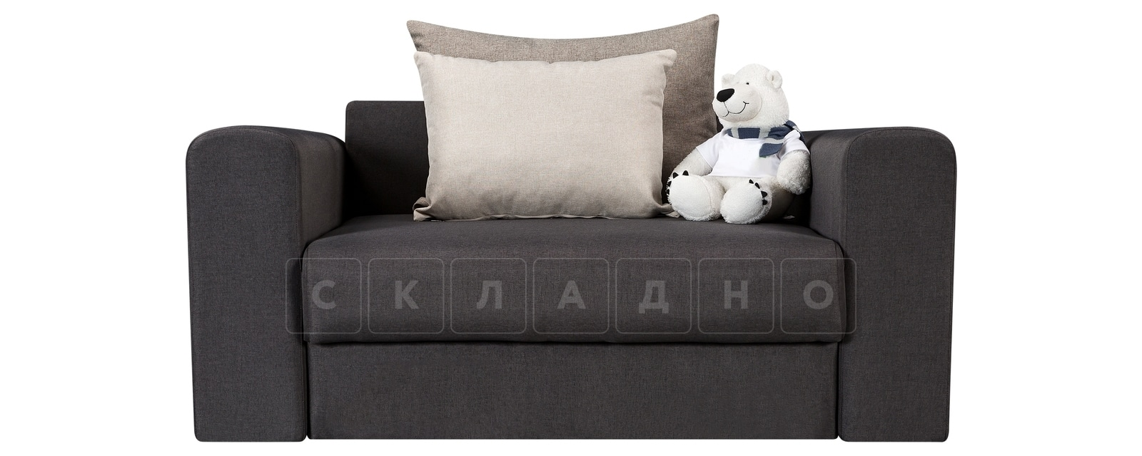 Кресло Медисон 100 см темно-серого цвета фото 2 | интернет-магазин Складно