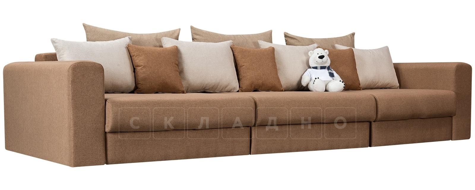 Диван Медисон коричневый 325 см фото 1 | интернет-магазин Складно